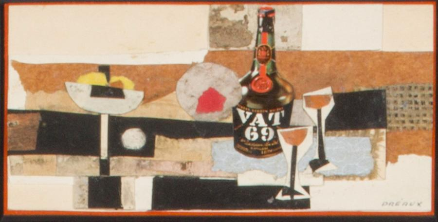 Raymond Préaux ( Né en 1916) Lot de 3 oeuvres - Nature morte au Whisky Technique…