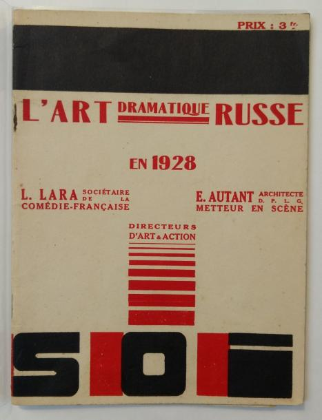 [AVANT-GARDE RUSSE]. L'ART DRAMATIQUE RUSSE. Paris, 1928. In-12, couverture illustrée…