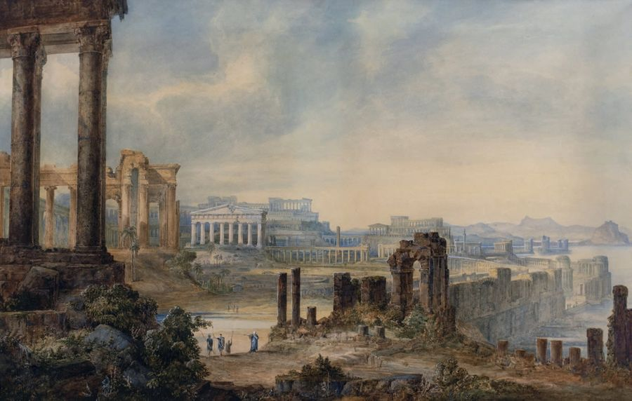 Georges Richard PAIN (Londres 1793 Cork 1838) Caius Marius sur les ruines de Car…