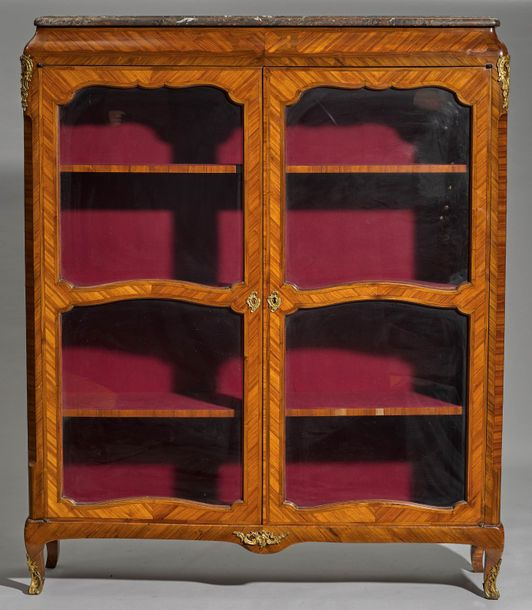 BOOK CASE Louis XV, France, Paris, ca. 1760. In the style of Pierre Roussel. Tul…