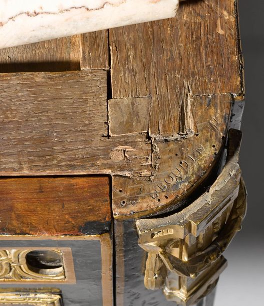 VERY FINE AND IMPORTANT LACQUER COMMODE Transition. France, Paris, ca. 1770. Sig…