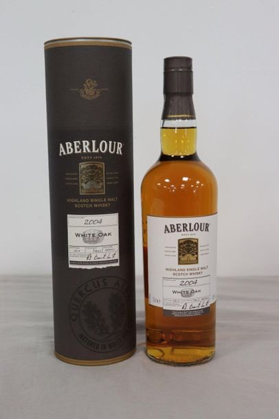 1 Blle ABERLOUR Scotch Whisky Highland Single Malt, White Oak, 2004 1 Blle ABERL…