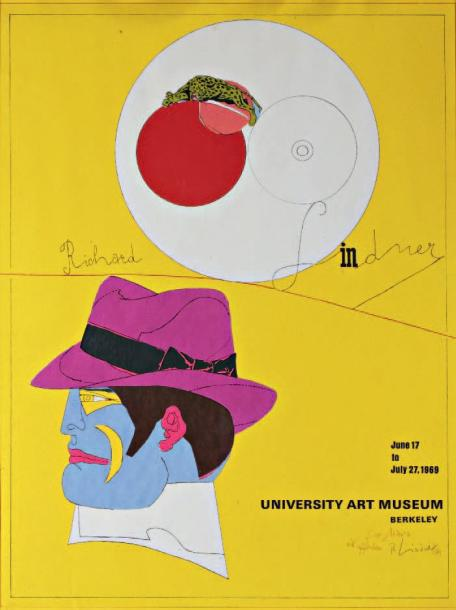 RICHARD LINDNER (1901-1978) Affiche de l'exposition à University Art Museum, Berkeley,…