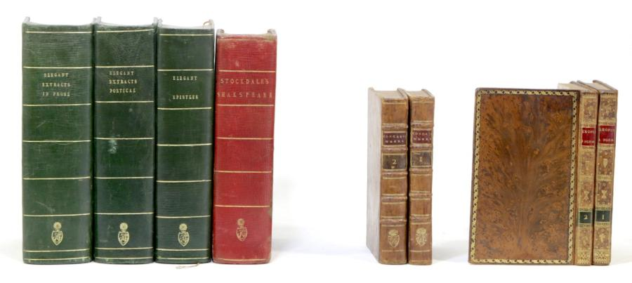 CONGREVE The Works in two volumes. London, Lowndes, Caslon, Davies, Nicoll, Bladon,…