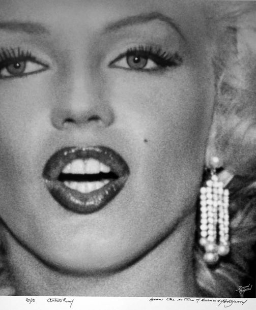 Bernard of Hollywood  Marilyn Monroe  Tirage argentique contrecollé sur aluminiu…