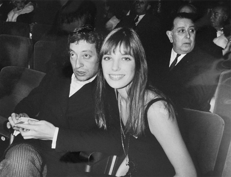 Tony Grylla  Serge Gainsbourg et Jane Birkin Olimpia 1969  Tirage argentique for…