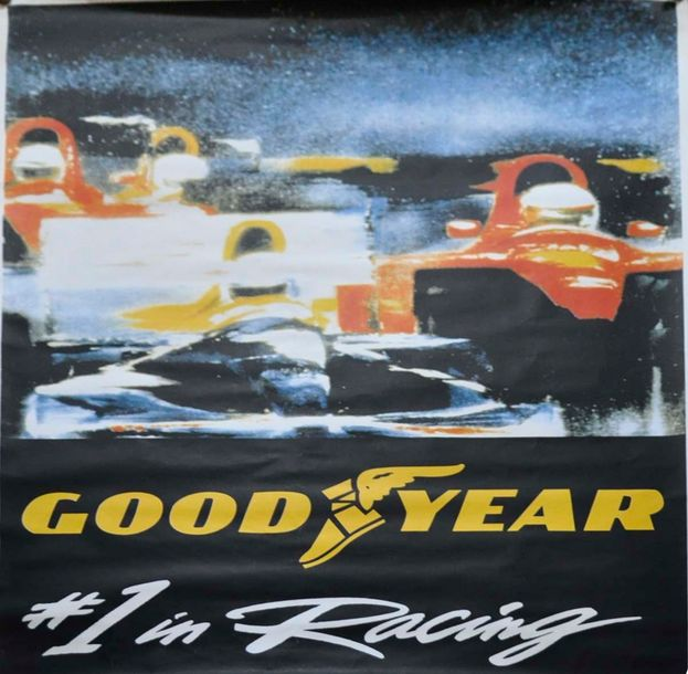 Affiche Goodyear- 1° Racing, 170x120cm