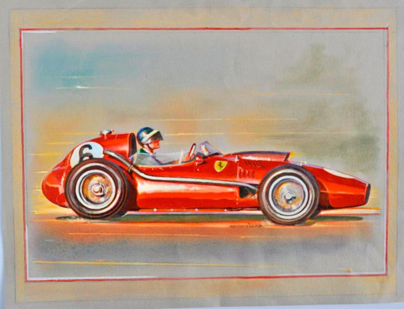 VISPE. Mike Hawthorn, tirage, reproduction (30x40cm)