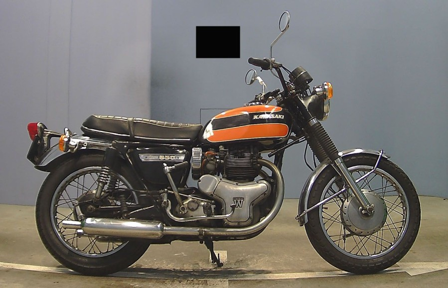 KAWASAKI 650 W1S – 1971  Type mine: W1F