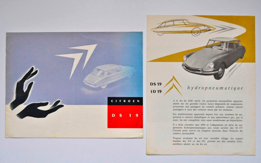 Citroen Citroën. Catalogue Citroën pour la DS en français. On joint un prospectus…
