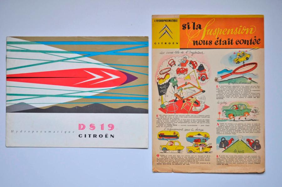 Citroen Citroën. Catalogue Citroën pour la DS 19 de en français, on joint un dépliant…