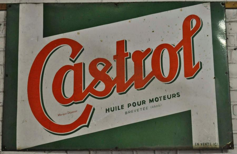 Plaque Castrol (80x120 cm) - LOT RETIRE DE LA VENTE -