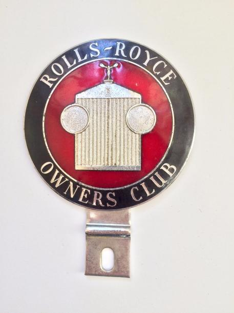 Badge de calandre Rolls Royce Owner's club