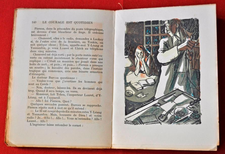 O.P. GILBERT. Le Courage est quotidien. Illustrations de J. LECHANTRE. N° 175 - Editions…