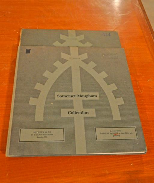 Collection Somerset MAUGHAM. Sotheby's Londres 1962. 2 Catalogues de la vente (…