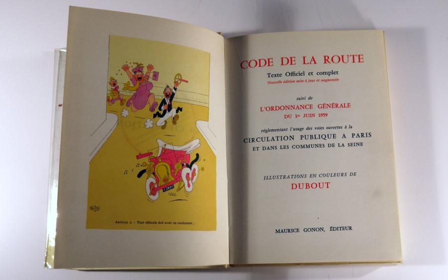 Code de la Route et de la Circulation - Illustrations en couleur de Dubout