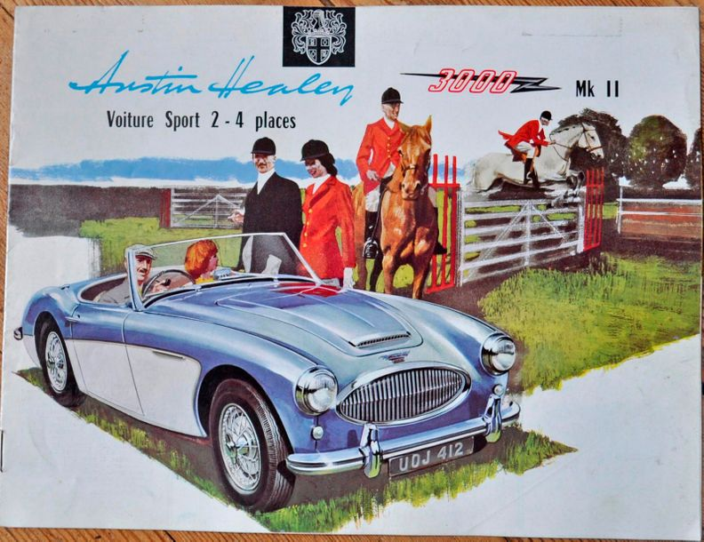 Austin Healey. Catalogue Healey 3000 MK II