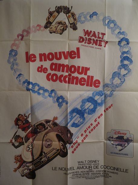 """LE NOUVEL AMOUR DE COCCINELLE"" de Robert Stevenson  Affiche 1,20 x 1,60 Production…"