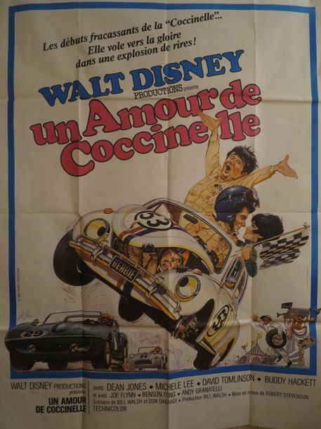 """UN AMOUR DE COCCINELLE"" de Robert Stevenson avec Dean Jones  production Walt Disney…"
