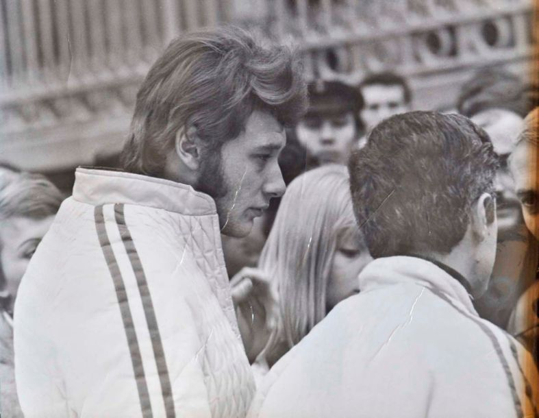Johnny Hallyday Johnny Hallyday et Sylvie Vartan, 1967. Photo 18x24cm. Collection…