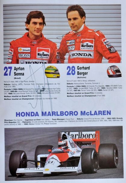 Exceptionnel dossier de presse du Grand Prix de France 1987 au Paul Ricard, comportant…