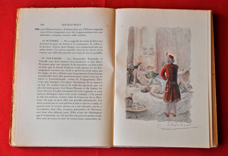DE BACHAUMONT. Mémoires secrètes. Illustrations de P. BECAT. N° 943- Brillant é…