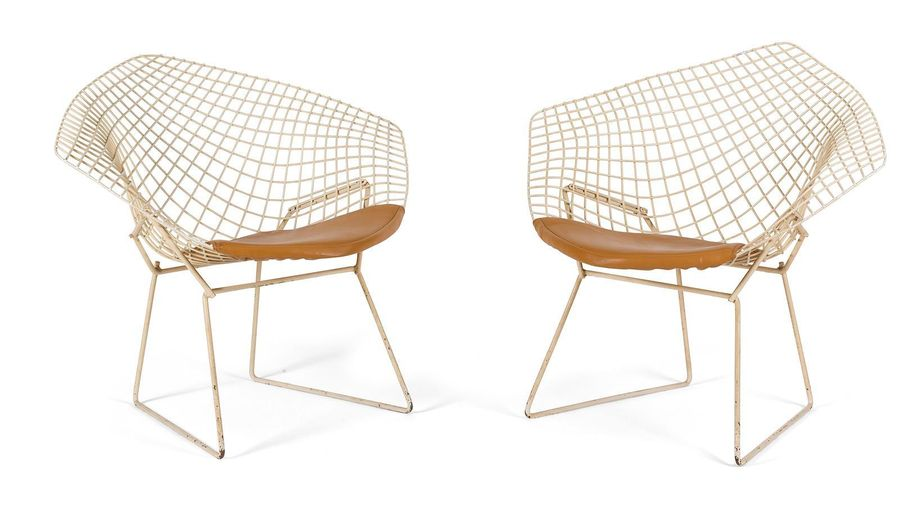 "Harry BERTOIA (1915 1978) Designer & KNOLL INTERNATIONAL Editeur "" Diamond chair…"