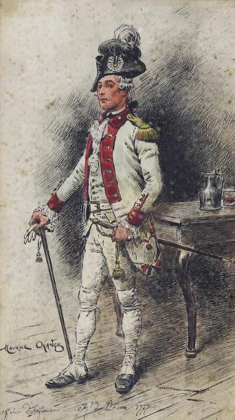 Maurice Henri ORANGE (1868-1916) Officier d'infanterie, Régiment du Béarn, 1777.…