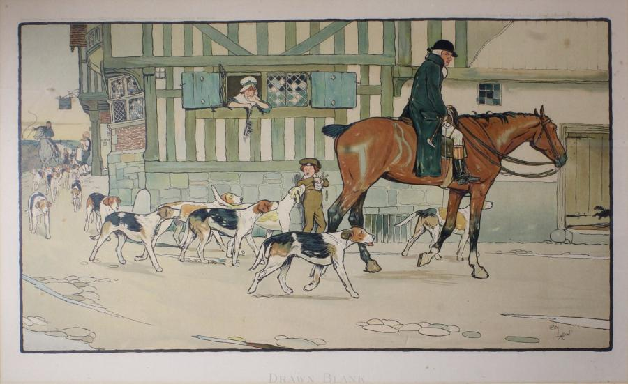 Cecil ALDIN (1870 - 1935) A Hunting Morning et Drawn Blank. Deux gravures offset…