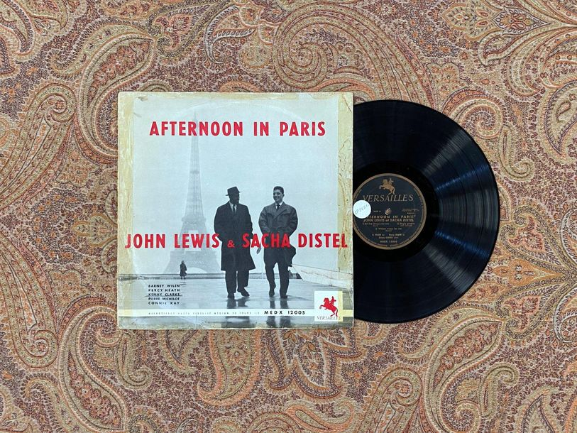 "Jazz 1 disque 25 cm John Lewis et Sacha Distel ""Afternoon in Paris""  Versailles …"