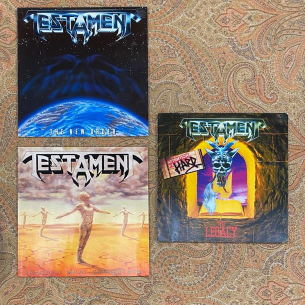 Pop Rock 3 disques 33T Testament  VG+ à EX ; VG+ à EX  Hard Rock