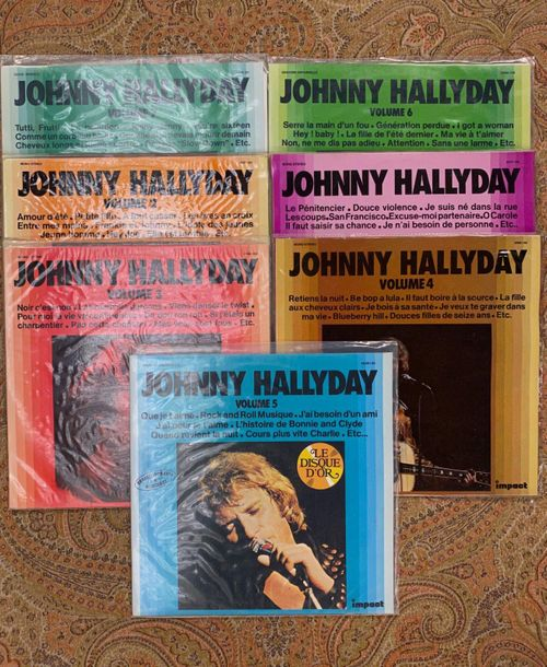 "Johnny Hallyday 7 disques 33 T Johnny Hallyday, série ""Impact""  VG+ à NM, VG+ à …"