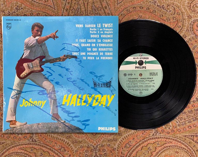 "Johnny Hallyday 1 disque 25 cm Johnny Hallyday ""Hallyday""  840926BZ, Philips, st…"
