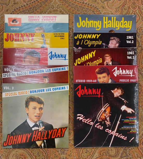 Johnny Hallyday 10 disques 25 cm Johnny Hallyday  NM à M; NM à M