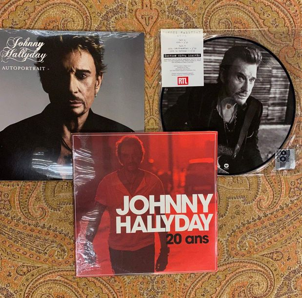 Johnny Hallyday 3 disques 25 cm, dont 1 x picture disc Johnny Hallyday  NM à M; …