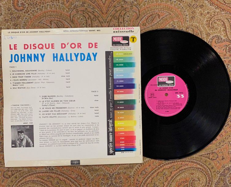 "Johnny Hallyday 1 disque 33 T Johnny Hallyday ""Le disque d'or""  MDINT9072, Vogue…"