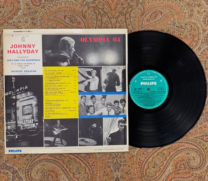 "Johnny Hallyday 1 disque 33 T Johnny Hallyday ""Olympia 64""  B77987L, Philips, la…"