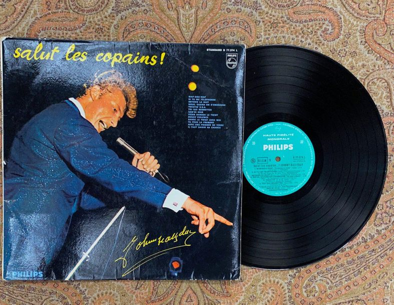 "Johnny Hallyday 1 disque 33 T Johnny Hallyday ""Salut les copains""  B77374L, Phil…"