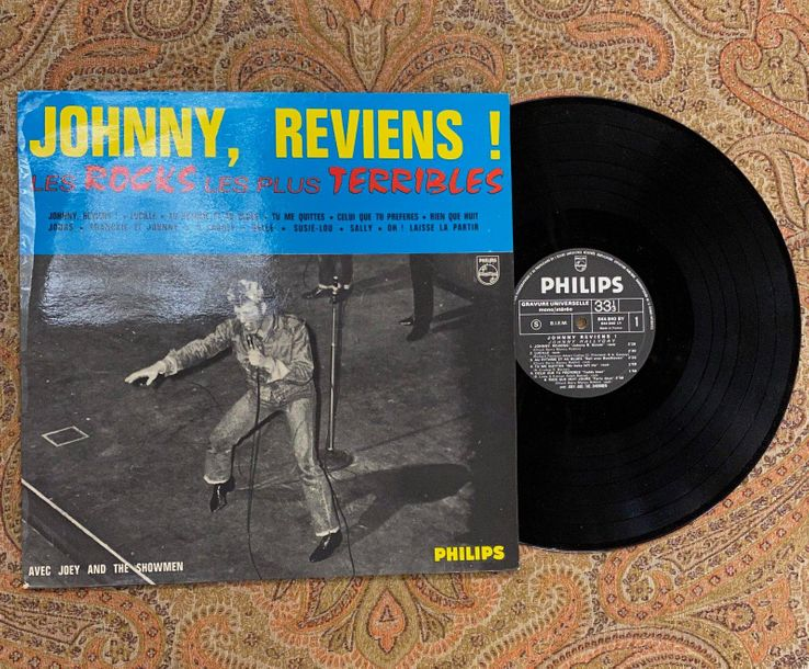 """Johnny Hallyday 1 disque 33 T Johnny Hallyday """"Johnny, reviens n°6""""  844840BY, P…"""
