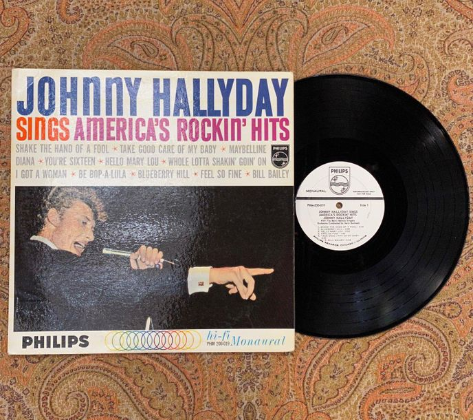 "Johnny Hallyday 1 disque 33 T Johnny Hallyday ""sings America's rockin' hits""  PH…"