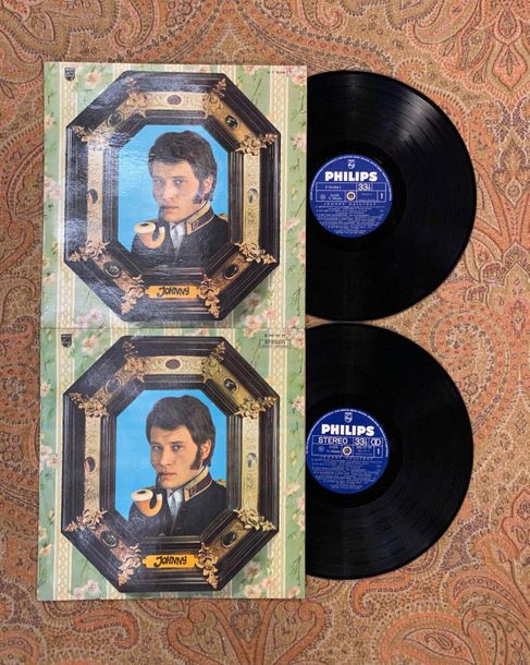 """Johnny Hallyday 2 disques 33 T Johnny Hallyday """"Johnny 67""""  P70434L et 842157BY,…"""