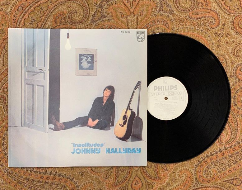 "Johnny Hallyday 1 disque 33 T Johnny Hallyday ""Insolitude"" + insert  RJ7294, Phi…"