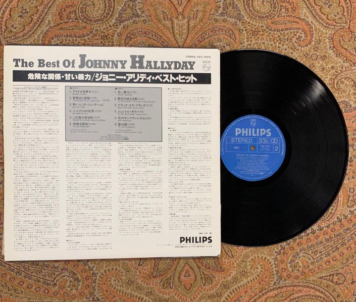 "Johnny Hallyday 1 disque 33 T Johnny Hallyday ""The best of""  FDX7075, Philips  P…"