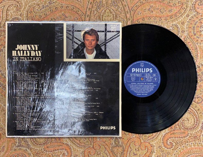 "Johnny Hallyday 1 disque 33 T Johnny Hallyday ""In italiano""  9120104, Philips  P…"