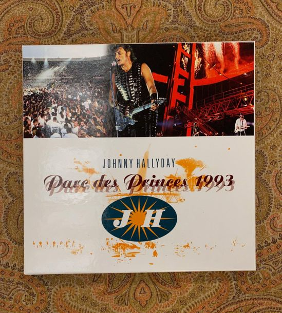 "Johnny Hallyday 1 coffret 33 T Johnny Hallyday ""Parc des Princes 93"" vinyles noi…"