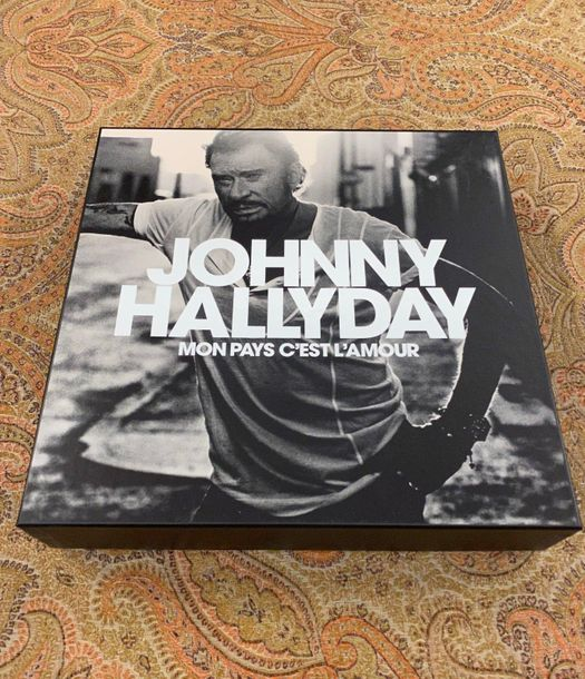"Johnny Hallyday 1 coffret 33 T Johnny Hallyday ""Mon pays c'est l'amour""  Edition…"