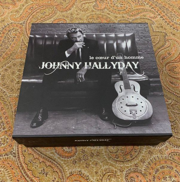 "Johnny Hallyday 1 coffret 25 cm Johnny Hallyday ""Le cœur d'un homme""  Edition li…"