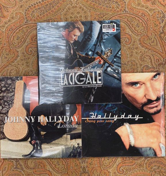 Johnny Hallyday 3 disques 33 T Johnny Hallyday  Editions limitées  M; M (neufs, …