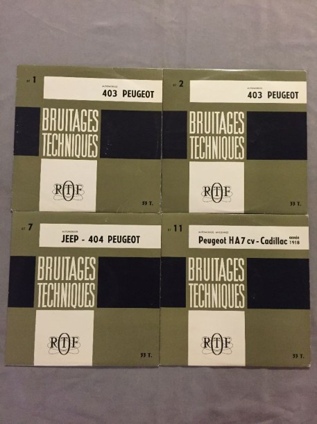 LOT de 4 disques 33 T Bruitages techniques automobiles : 25cm BT 1 Automobiles 403…