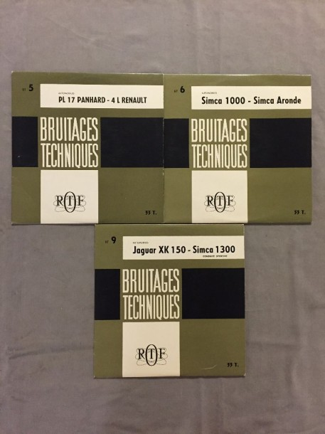 LOT de 3 disques 33 T Bruitages Techniques automobiles : 25 cm BT 5 Automobiles…